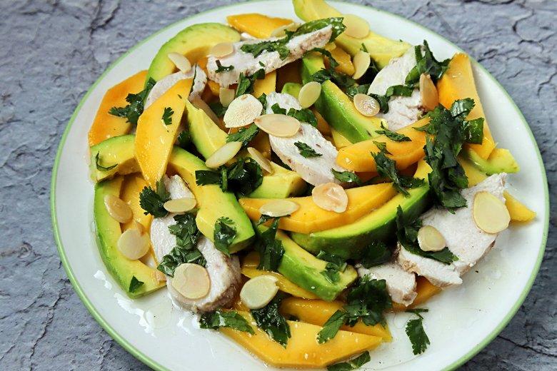 Mango-Salat mit Huhn