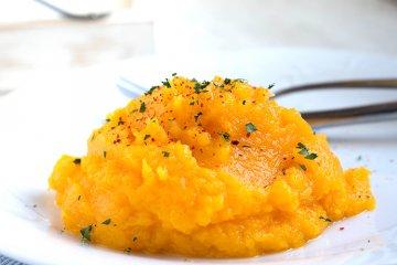 Feuriges Möhren-Süßkartoffel-Püree