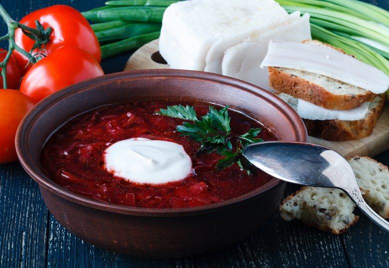 Russische Borschtsch Suppe