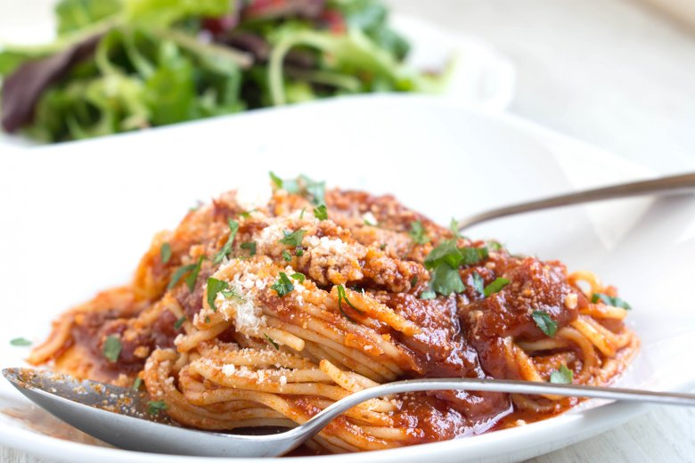 Spaghetti mit fruchtiger Tomatensauce