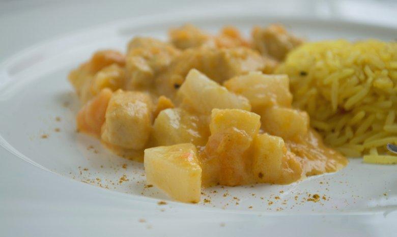 Curryreis mit Pute