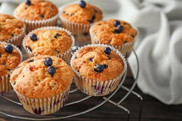 Blaubeermuffins ohne Zucker