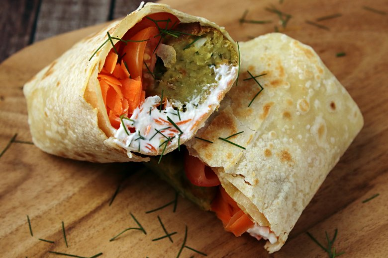Wraps mit Falafel