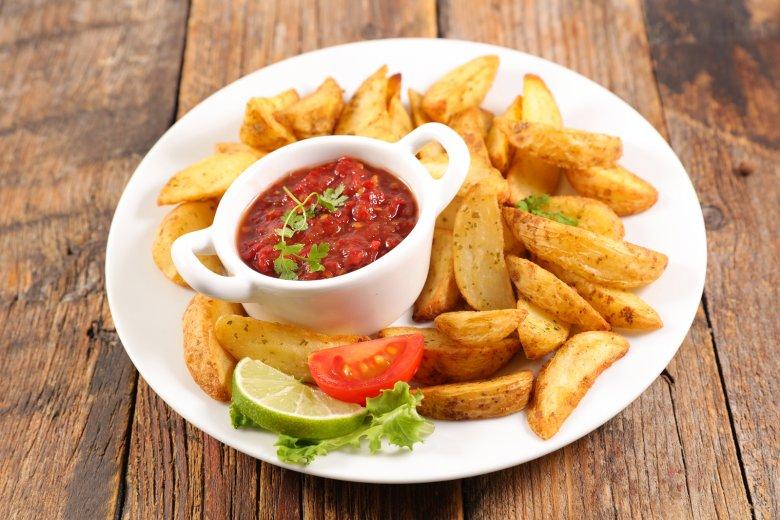 Fettarme Kartoffelspalten