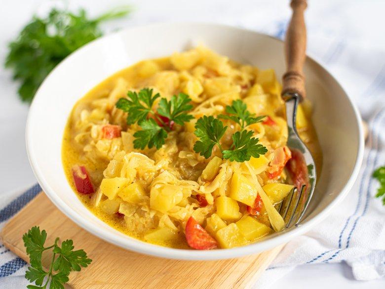Curry-Kraut-Eintopf