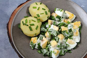 Schnittlauch-Eier-Salat