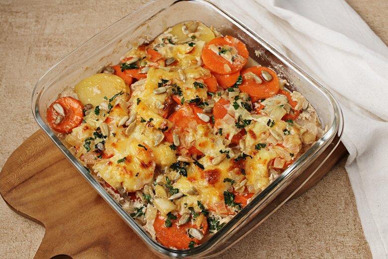 Kartoffel-Kohrabi-Auflauf