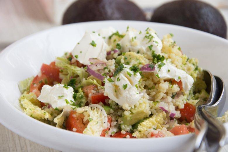 Kichererbsen-Avocado-Salat mit Quinoa
