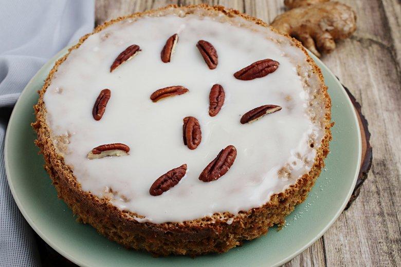 Pekannuss-Kuchen mit Ingwer