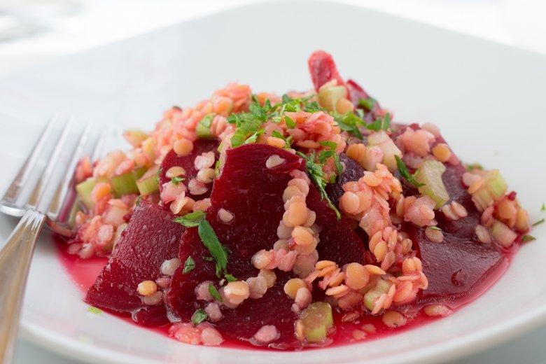 Rote Linsen-Salat