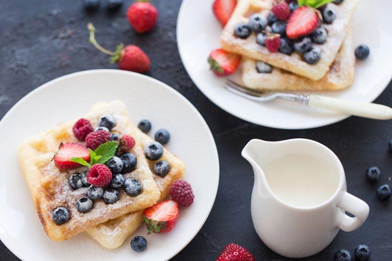 Crème-fraiche Waffeln