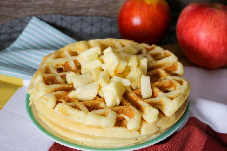 Käse-Kuchen-Waffeln