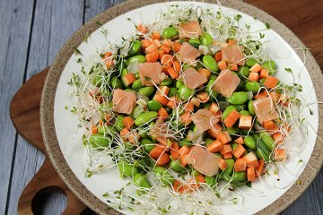Bohnensalat lauwarm