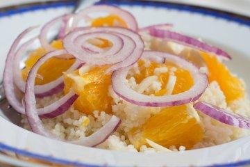 Couscous mit Orange und Mandeln