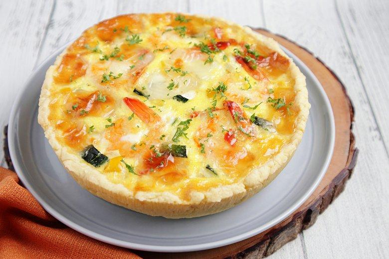 Quiche mit Mozzarella