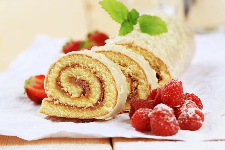 Biskuitrolle-Grundrezept
