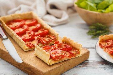 Tomatenquiche mit Senf