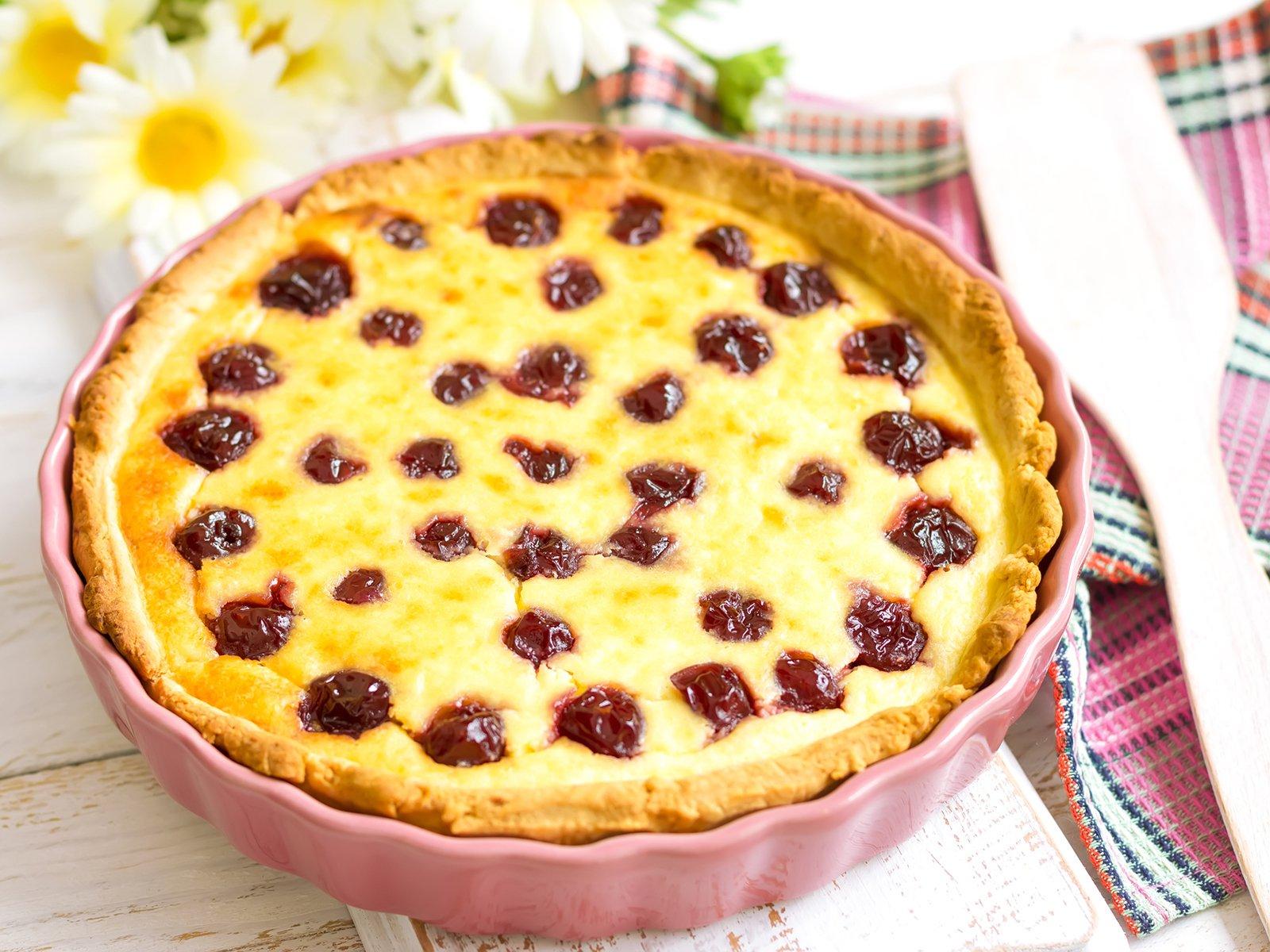 Kirsch Schmand Kuchen Rezept Gutekueche De