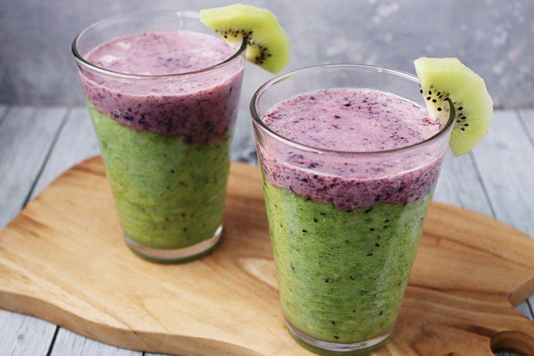 Kiwi-Blaubeer-Smoothie