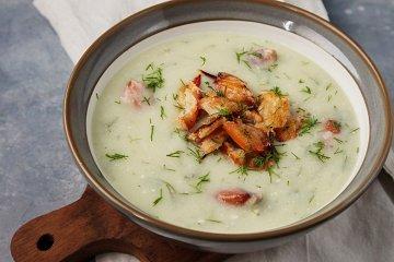 Blumenkohlsuppe mit Krabben