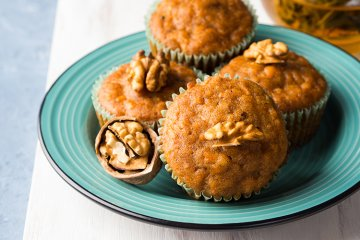 Karamell-Walnuss-Muffins
