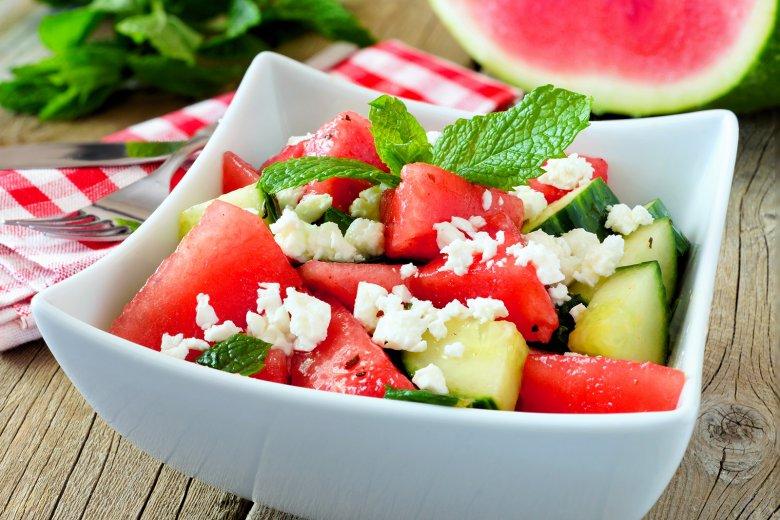 Wassermelonen Salat mit Feta
