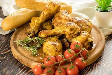 Hühnerkeulen aus dem Backofen