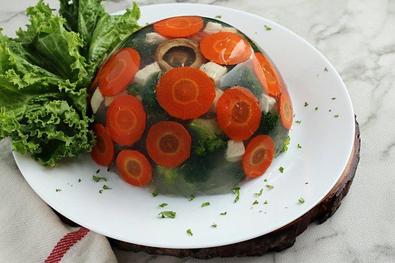 Gemüse in Aspik