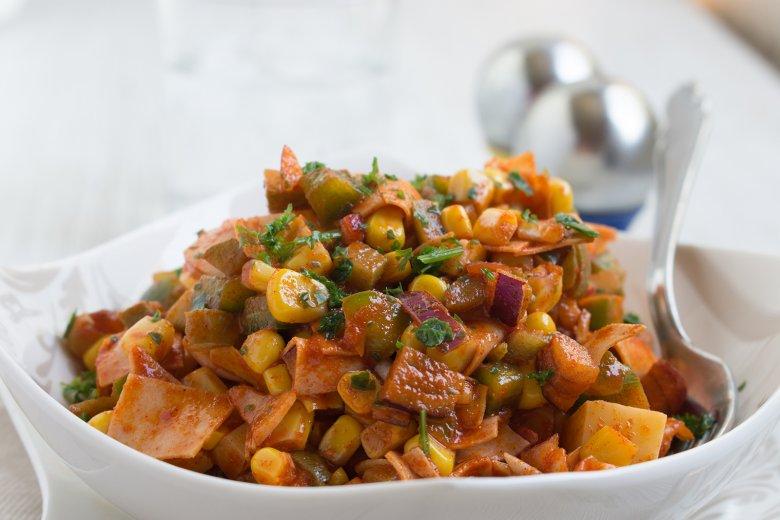 Maissalat mit Wurst