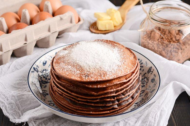 Vegane Schoko-Pancakes