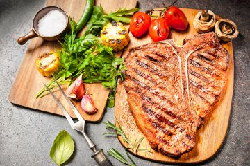 T-Bone-Steaks vom Grill