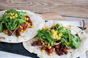 Tortilla-Fladen Mexican-Style