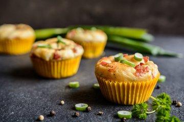 Muffins mit Kartoffel und Speck