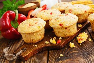 Muffins mit Peperoni