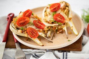 Fenchel-Tomaten-Mozzarella-Auflauf