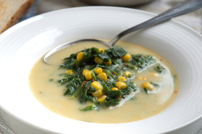 Spinat-Lauch-Suppe