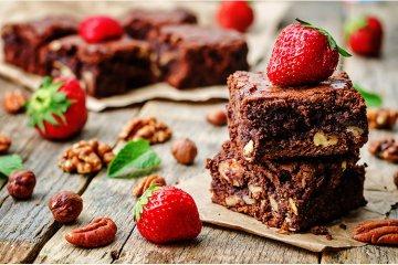 Nuss-Brownies