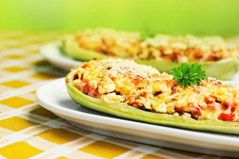 Zucchini-Schiffchen