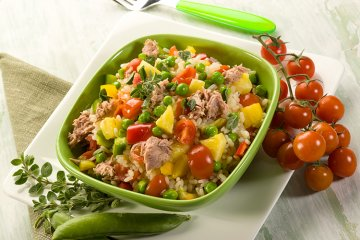 Reissalat mit Thunfisch und Ananas