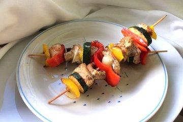 Puten-Gemüse-Schaschlik