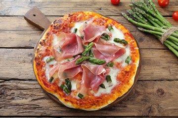 Spargelpizza