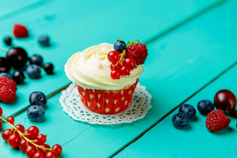 Beeren-Mascarpone-Cupcakes