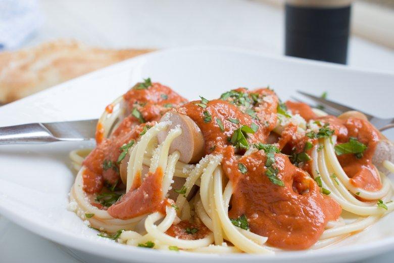 Spaghetti-Würstchen