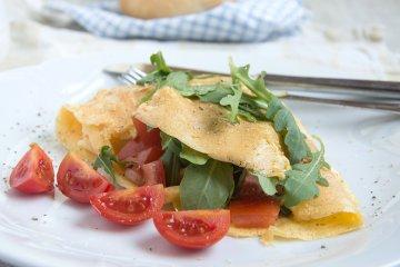 Tomaten-Rucola-Omelett