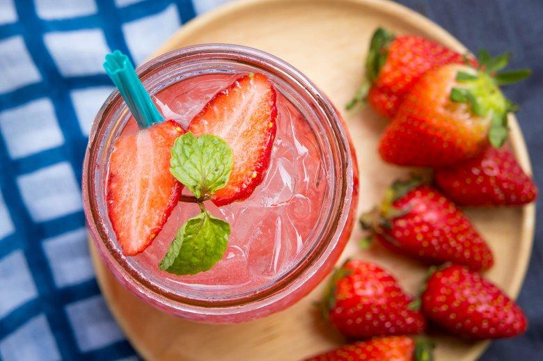 Erdbeer Gin Tonic