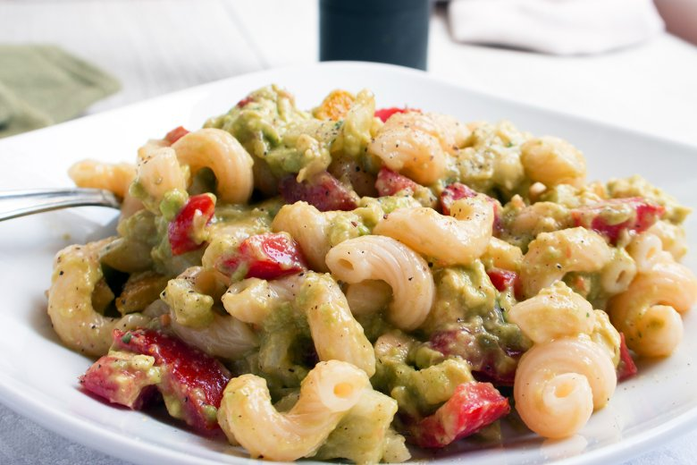 Nudelsalat mit Guacamole
