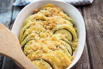 Zucchini und Kartoffeln aus dem Backofen