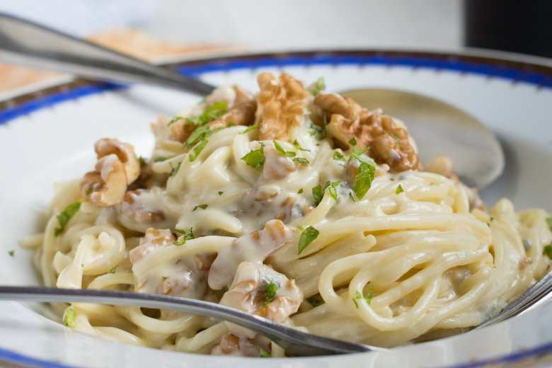 Spaghetti in Gorgonzola-Walnuss-Sauce
