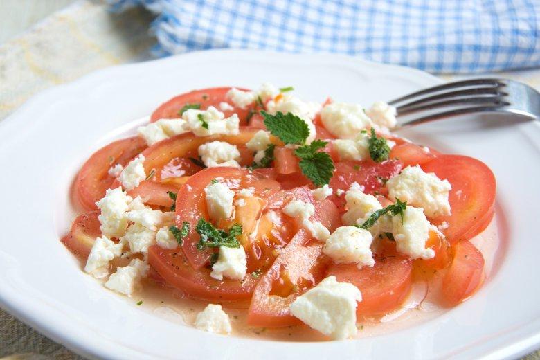 Tomatensalat mit Minz-Dressing
