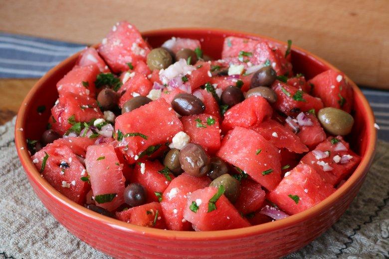 Melonensalat griechischer Art